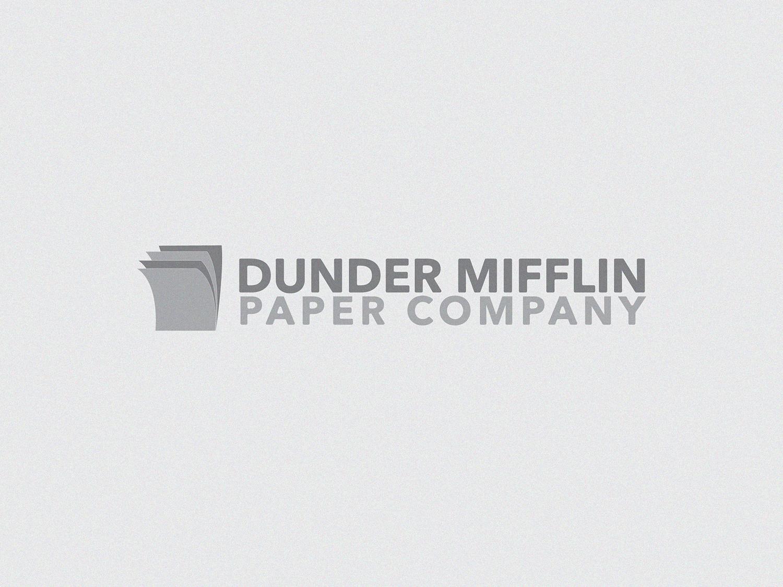 Dunder Mifflin paper office the office dunder mifflin type logo