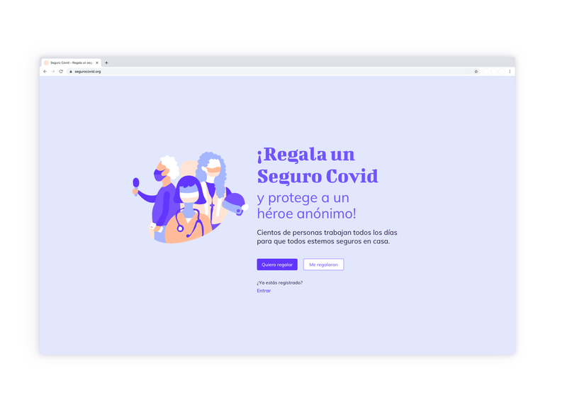 Covid landing page concept landing page vector design spanish illustration organic shapes pastel colors color palette concept covid19 ui adobe illustrator sketch