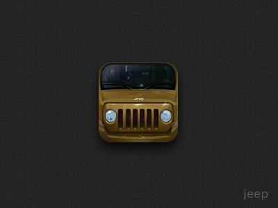 Jeep ui iphone icon design