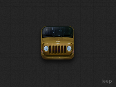 Jeep ui iphone icon design
