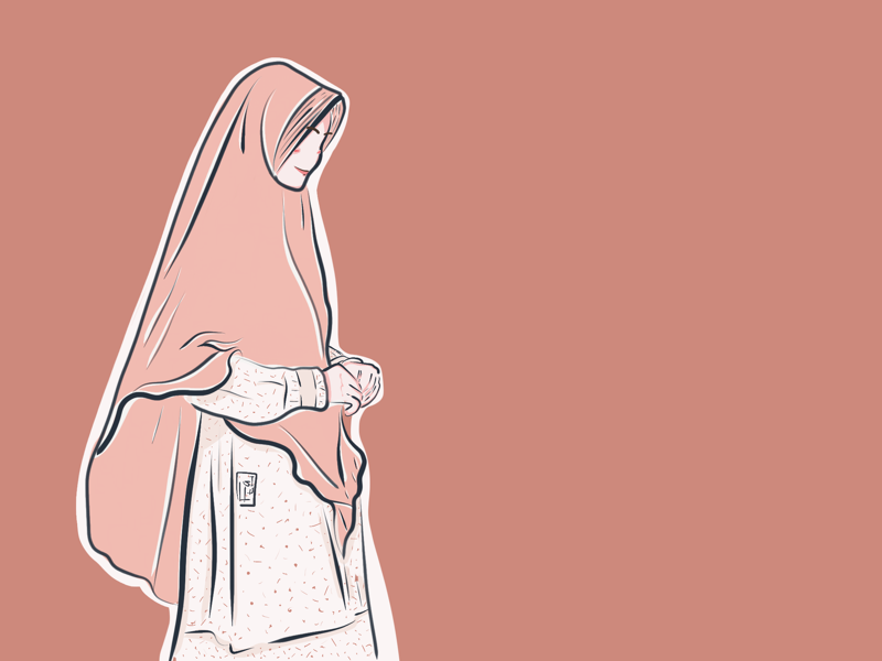 Bismillah art potraitillustration illustration