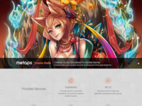 Responsive website for game asset production