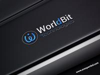 Worldbit Technologies Logo With Free mock-up
