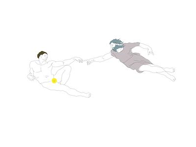 Creation of Adam illustraion art adobe illustrator