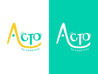 Acto de sonrisas adobe illustrator graphicdesign logodesign branding design brand art illustrator