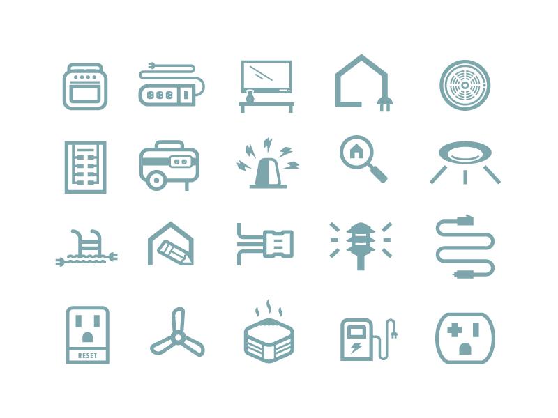 Kratt Icon Set blue electricity electric branding icon mark logo