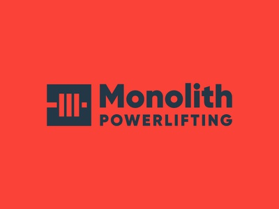 Monolith explore heavy lockup mark explore identity brand logo gym powerlifting