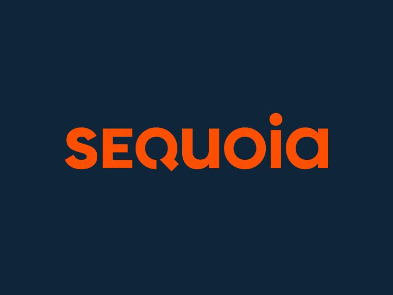 Sequoia Wordmark logotype minimal navy orange blue type mark symbol typography wordmark logo