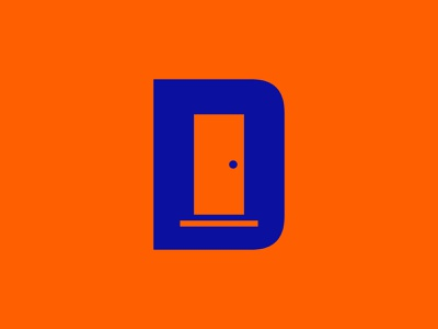 Door Top Brewing d brewing beer bold letter symbol pittsburgh icon branding mark identity logo