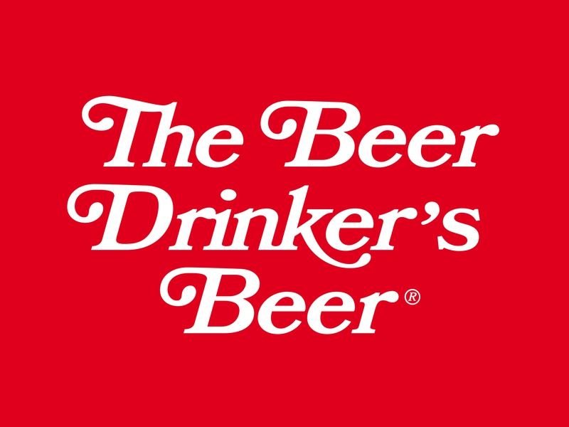 The Beer Drinker's Beer brand letter logo craft mark branding identity white red typography type lockup bridges steel pittsburgh ironcitybeer ironcity beer city iron