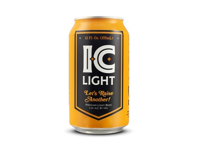 IC Light 12 OZ mark identity package beverage classic bold logo champion product lockup banner gold black iron city lightbeer craft 12oz beer pittsburgh