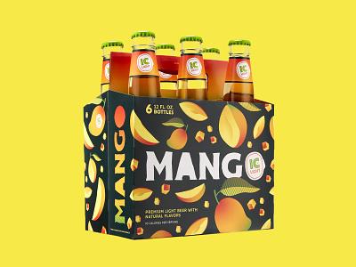 IC Light MANGO 6-Pack carve logo fun summer bright orange green identity juicy juice mango fruit 6pack sixpack packaging branding craft local pittsburgh beer