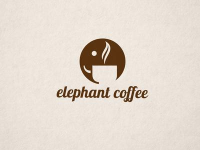 Elephant Logo elephant cup coffee logo smoke icon viet nam