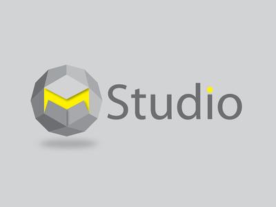 M-Studio great logo m studio grey yellow 3d polygon vietnam identity logotype geometric