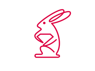 Rabbby line vietnam baohuynh pink cute branding ruby rabbit logo
