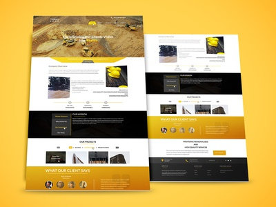 Construction webpage design