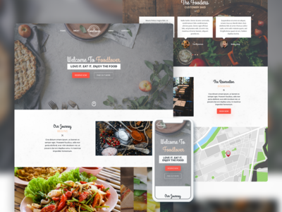 Restaurant UI Web & Mobile - Foodlover