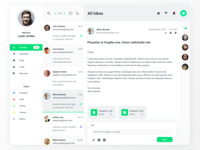 Dashboard UI - Emailing (Light)