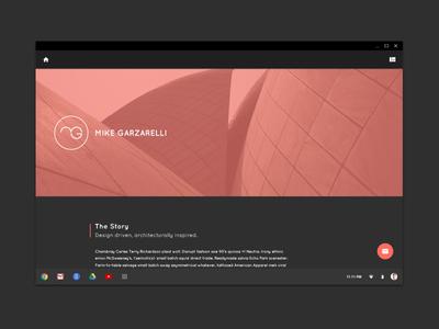 2015 Portfolio Site material app flat minimal website web design black portfolio identity brand