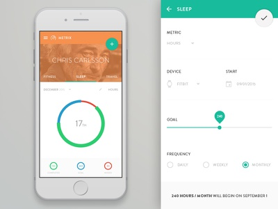 Sleep Metric Concept ui ux white material android dashboard simple minimal fitness app dash tracker