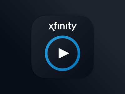Xfinity Stream App Icon logo ux ui design icon app tv stream brand xfinity comcast