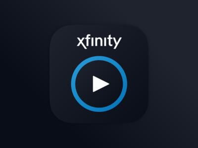 Xfinity Stream App Icon logo ux ui design icon app tv stream brand xfinity comcast