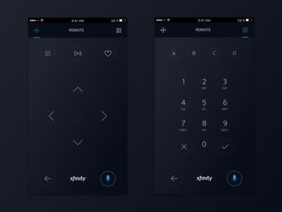 Xfinity Remote App Concept logo ux ui design icon app tv remote brand xfinity comcast