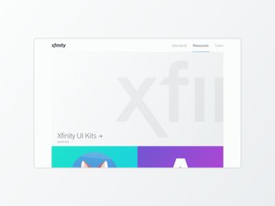 Xfinity Design Standards logo ux ui design icon app tv mobile web brand xfinity comcast