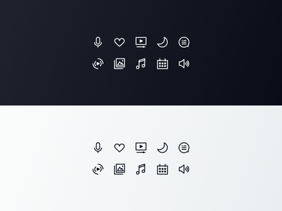 Xfinity Glyphs System glyph dark light app icon ux ui comcast tv xfinity
