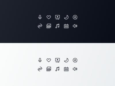 Xfinity Glyphs System glyph dark light app icon ux ui comcast tv xfinity