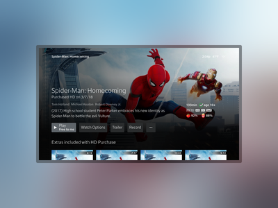 Immersive Entity x1 xfinity comcast design entertainment movie tvshow tv ux ui