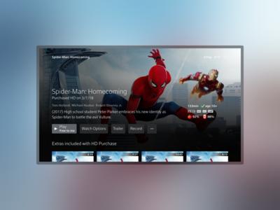 Immersive Entity x1 xfinity comcast design entertainment movie tvshow tv ux ui