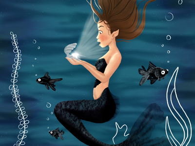 Black tailed mermaid