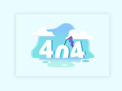 404 Page Design error not found http cloud sky 404 error page 404 web icon dailyui blue ui ux vector illustration design