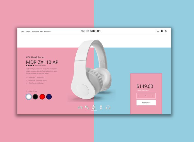 Customize Product product customize blue pink illustration dailyui ux ui headphone design