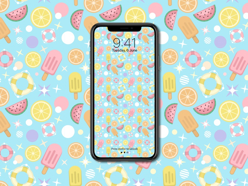 Background Pattern colorful happy homepage summer pink blue ui ux iphone wallpaper pattern illustration dailyui design