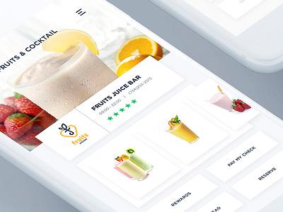 High Class Restaurant Rewards App | Cocktails version template iphone check rewards class clean app mobile restaurant