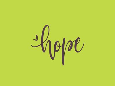 Hope logo typography lettering vector illustration design flatposter flatdesign