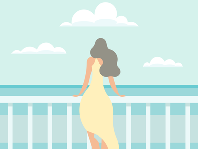 Woman vector illustration flatposter flatdesign