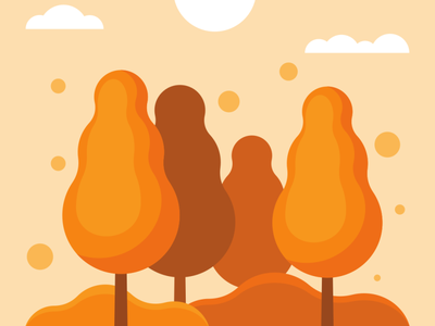 Autumn vector illustration design flatposter flatdesign