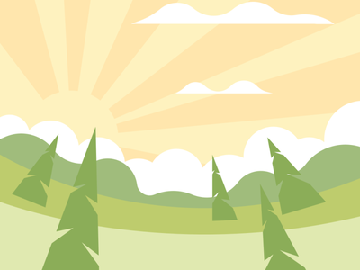 Beautiful sunrise vector illustration design flatposter flatdesign
