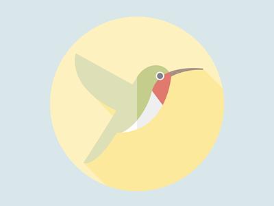 Flat design humming vector illustration flatposter flatdesign