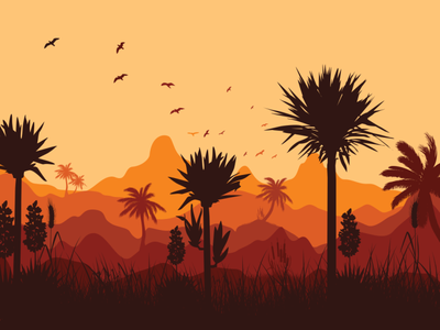 Yucca sunset vector illustration design flatposter flatdesign