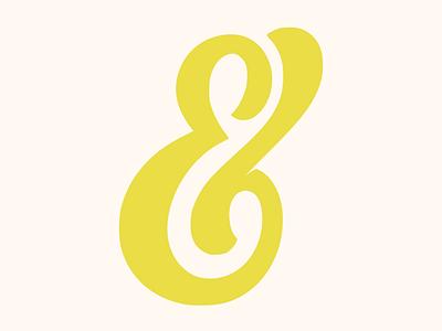 Ampersand #018 logo ampersand vector design flatposter flatdesign