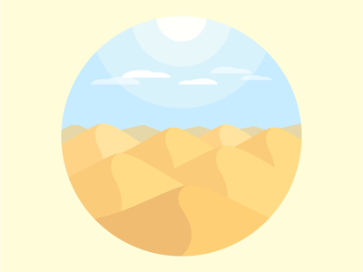 Desert sand dunes vector illustration design flatposter flatdesign