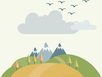 Snowy mountains vector illustration design flatposter flatdesign