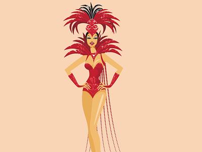 Show girl vector illustration design flatposter flatdesign