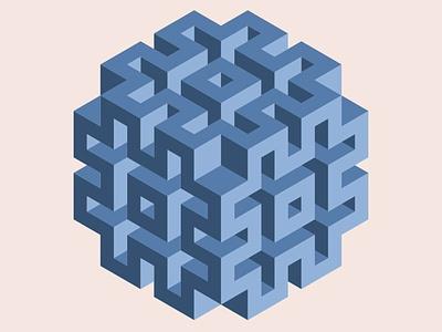 Three dimensional geometry geometric art geometric vector design flatposter flatdesign