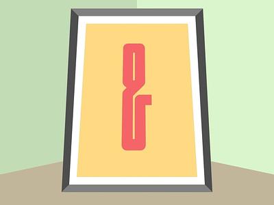 Ampersand #025 typography illustration design flatposter flatdesign