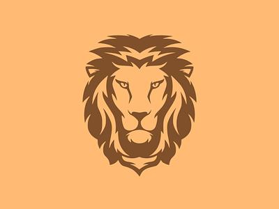 The lion logodesign branding vector illustration design flatposter flatdesign